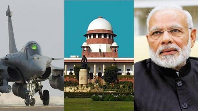 Supreme Court upholds clean chit to Union govt on Rafale deal - Sakshi