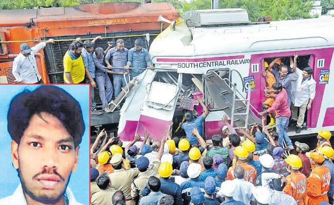 MMTS Loco Pilot Chandrashekar Right Leg Has Removed - Sakshi