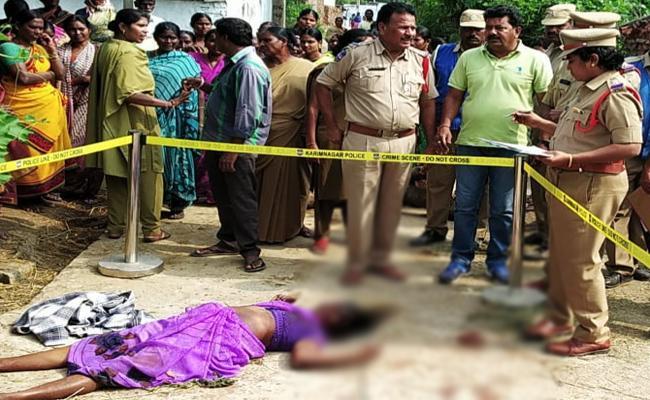 Women Killed By Neighbours In Huzurabad - Sakshi