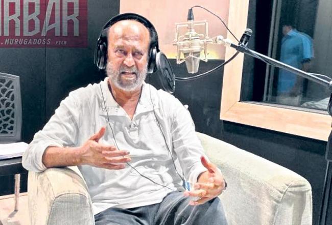 Rajinikanth begins dubbing for AR Murugadoss Darbar - Sakshi