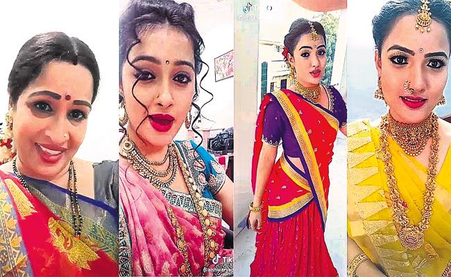 Tiktok Craze in TV Serial Actress - Sakshi