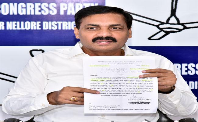 Kakani Says Somireddy Is Making False Allegations - Sakshi