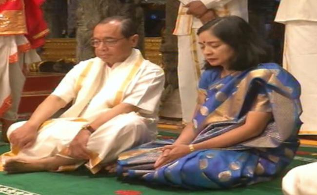 Supreme Court Judge Justice Ranjan Gogoi Visit Tirumala - Sakshi