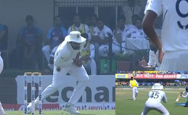 Rohit No Mistake At 2nd Time After Practing Slip Catches - Sakshi