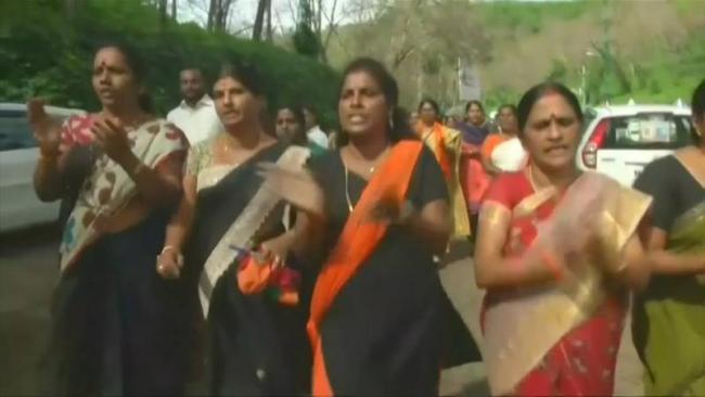 Ten Women Of Menstruating Age Were Sent Back From Sabarimala - Sakshi