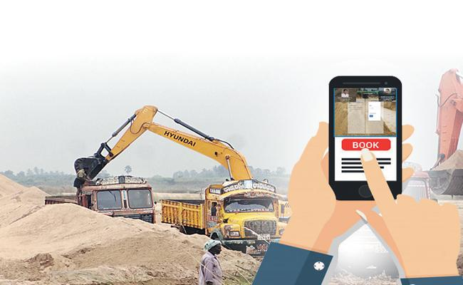 Special website available for Sand booking in Online - Sakshi