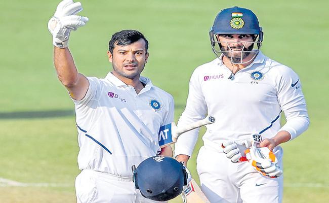 Mayank Agarwal Made Double Century Against Bangladesh - Sakshi