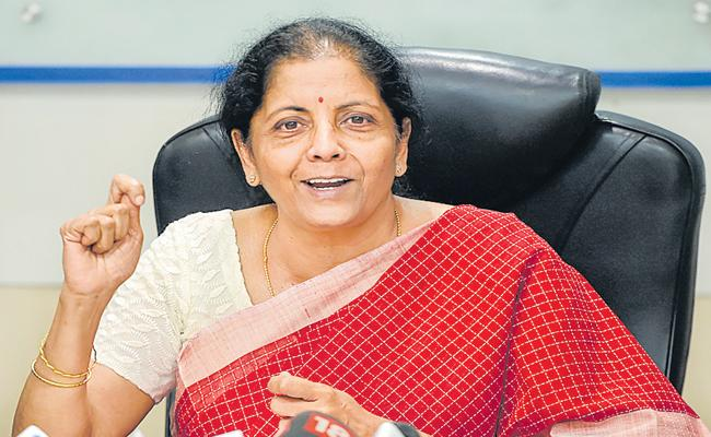 Nirmala Sitharaman Comments On Insurance Enhancement Act on Deposits - Sakshi