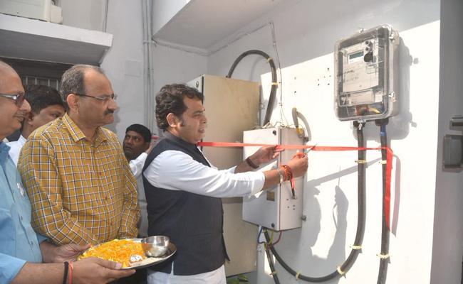 Uttar Pradesh Power Minister Installed Prepaid Electric Meter - Sakshi