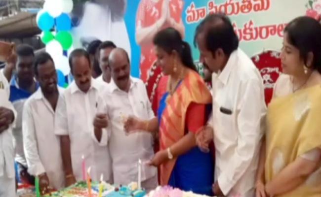 YSRCP MLA Roja Birthday Celebrations - Sakshi