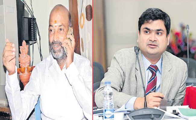 MP Sanjay and Collector Sarfaraz conversation became viral - Sakshi