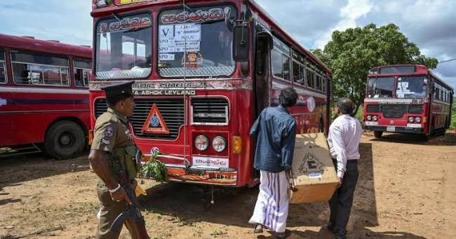 buses carrying Muslim voters attacked in sri lanka - Sakshi