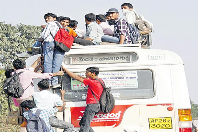 Travelers Are Trouble With The RTC Strike - Sakshi