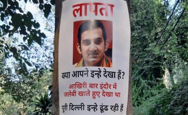 Gautam Gambhir Missing Posters Surface In Delhi - Sakshi
