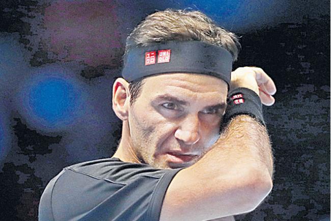 Stefanos Tsitsipas Overcomes Roger Federer To Reach Final Of ATP Finals  - Sakshi