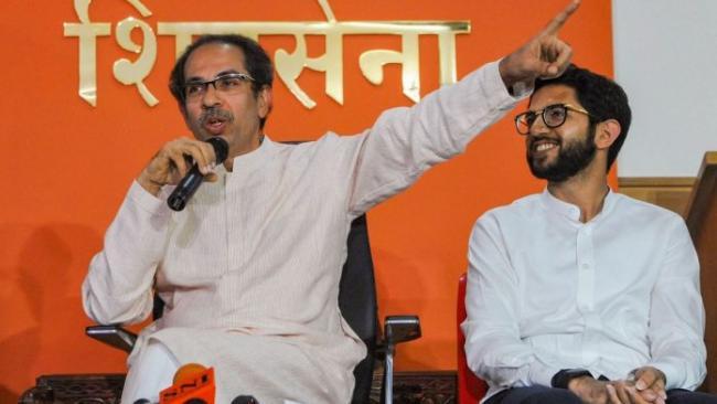 Shiv Sena Took A Double Swipe At  BJP And Maharashtra Governor - Sakshi