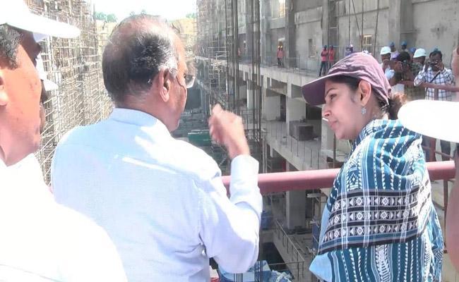 Smita Sabharwal Inspects Seetha Rama Lift Irrigation Project Canal Works - Sakshi
