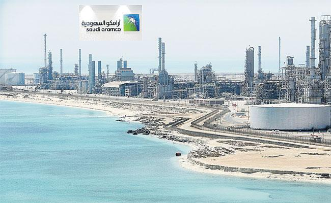 Saudi Aramco In Race For IPO Record With dollers 2 trillion Top Value - Sakshi