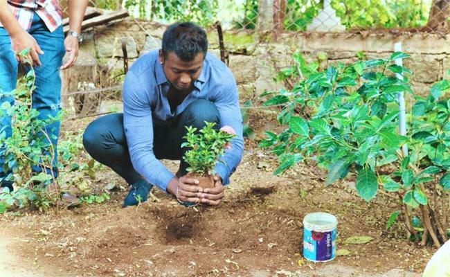Rahul Sipligunj Accepted Green Challenge - Sakshi