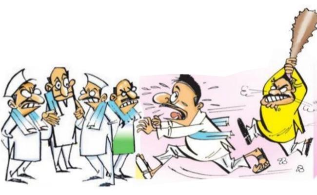 TDP Leaders Attacks YSRCP Activists In Vizianagaram District - Sakshi