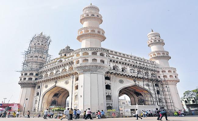 Charminar Conservation Work Completed At Hyderabad - Sakshi