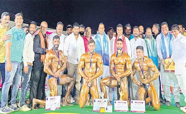 Mister Telangana Body Building Competition Completed - Sakshi