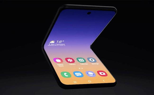 Samsung Unveils New Flip Phone-Style Foldable Phone Concept - Sakshi