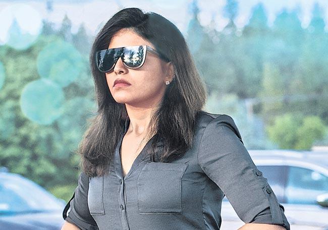 Anjali police role from Nishabdham released - Sakshi