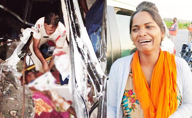 Two Men Died in Bus Accident Kurnool - Sakshi
