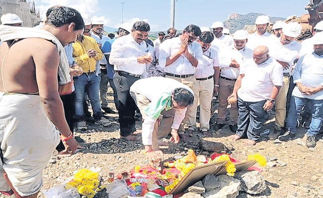 Polavaram Project construction works was Re-started - Sakshi