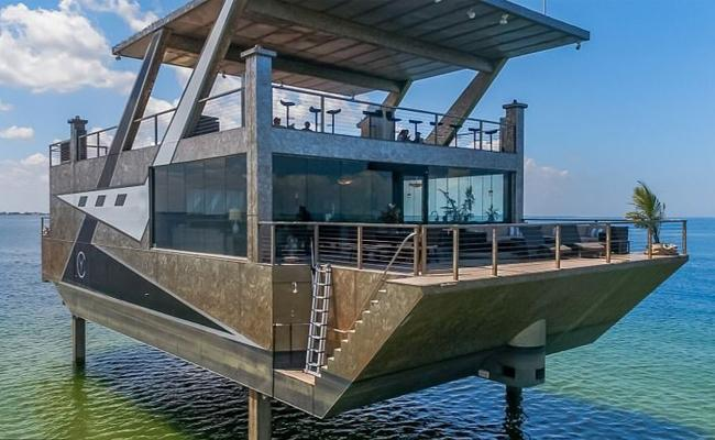 Stainless Steel Super Yacht Unveiled in Florida - Sakshi