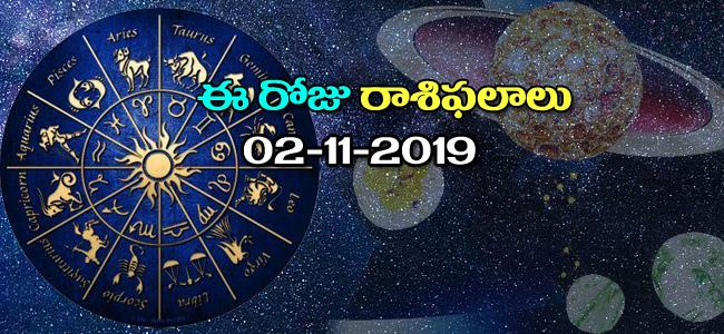 Daily Horoscope in Telugu (02-11-2019) - Sakshi