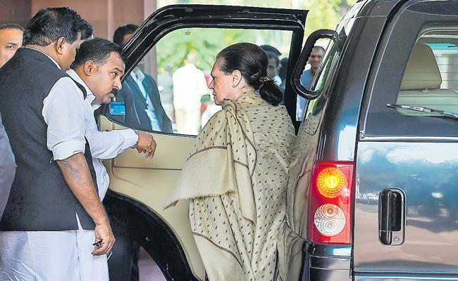 Gandhi's Family Has Been Mired In Parliament Over The Removal Of SPG Security - Sakshi