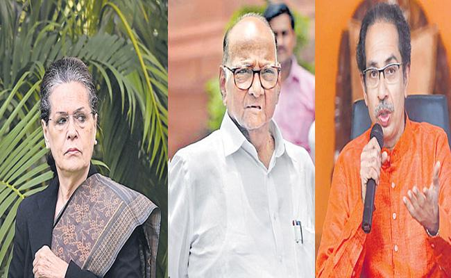 The Shiv Sena Is Trying To Tie Up With Pawar - Sakshi