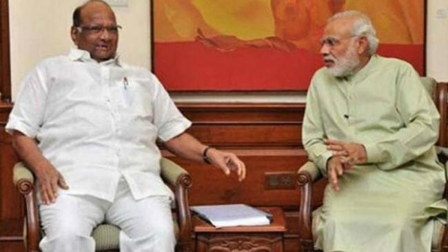 Sharad Pawar Meets PM Modi Over Farmers Distress In Maharashtra - Sakshi