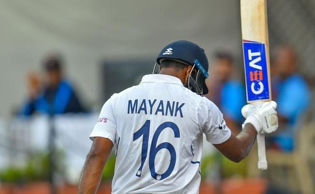 Ind vs Ban: Mayank On The Cusp Of Equalling Don Bradman - Sakshi