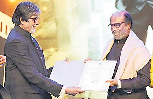 Rajinikanth honoured with Icon of Golden Jubilee award at IFFI 2019 - Sakshi