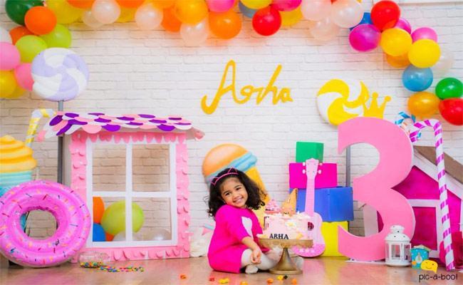 Allu Arjun Celebrates His Daughter Allu Arha 3rd Birthday - Sakshi