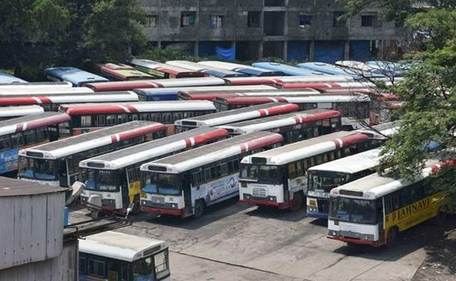 TSRTC Strike 46 Days Continuously Run And No Buses In Hyderabad Roads - Sakshi
