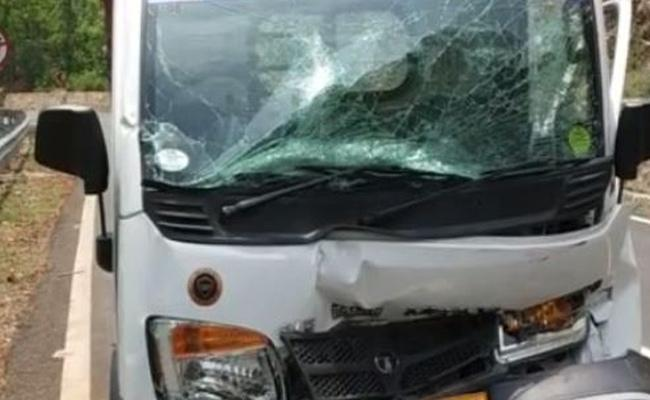 7 people Injured In tata ACE Accident In Vijayawada - Sakshi