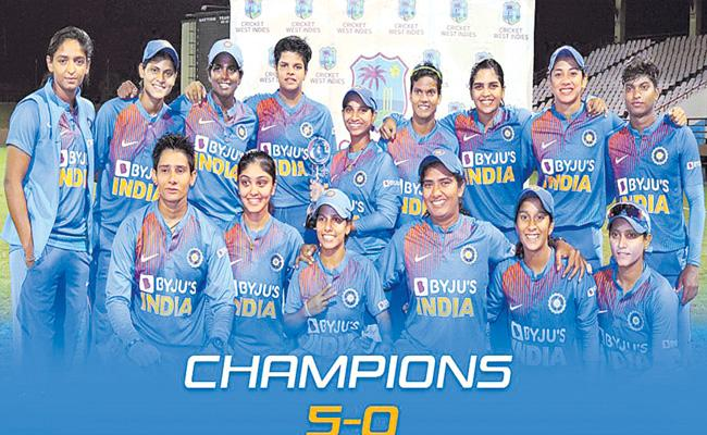 India Women Cricket Team Won The T20 Series Against West Indies - Sakshi