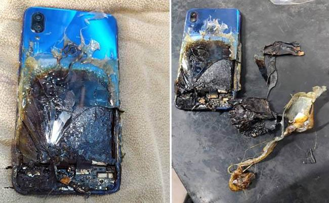 Xiaomi smartphone catches fire company says that  customer induced damage - Sakshi