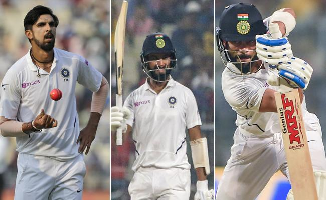 Ind vs Ban: Ishant, Pujara And Put India In Command - Sakshi