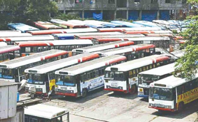 RTC Revenue Dropped With TSRTC Strike In Karimnagar - Sakshi
