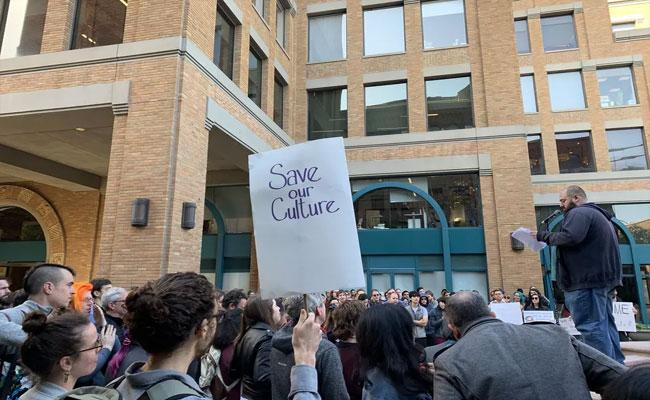 Google Employees Protest over Employee Suspension In San Francisco - Sakshi
