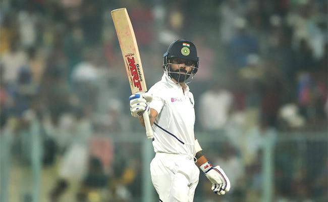 Ind vs Ban: Kohli Slams Century In First Pink Ball Test In India - Sakshi