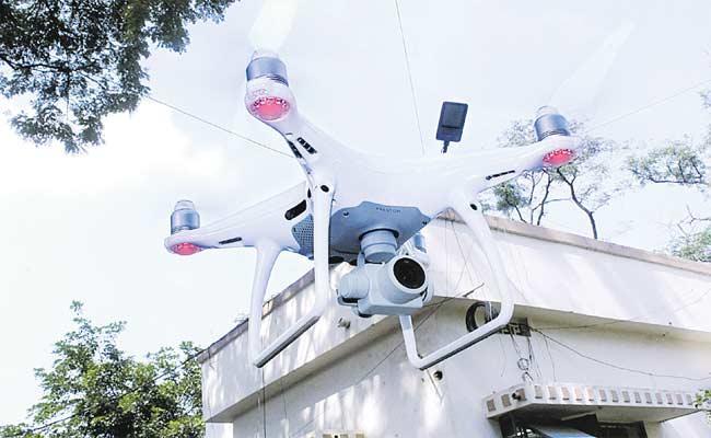 Mahabubad Police Have Drone Camera At SP Office - Sakshi