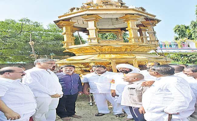 Harish Rao Attends Maha Kumbhabhishekam In Komuravelli Mallanna Temple - Sakshi