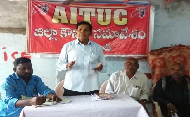 AITUC State Secretary Talks In Press Meet Over TSRTC Strike In Adilabad  - Sakshi