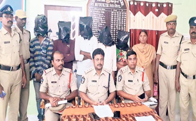 Murder Case Gang Arrested By Police In Kurnool - Sakshi